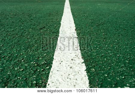 White  line at center of football pitch