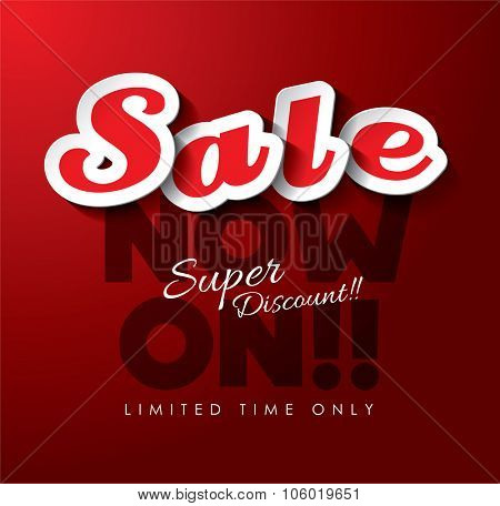 Sale Now On Vector Design