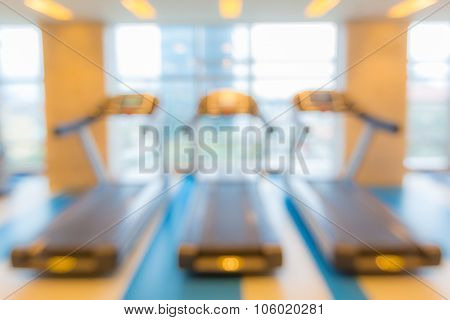 Abstract blurred background: fitness gym club