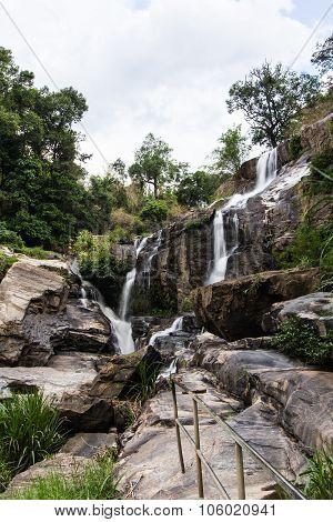 Mae Klang Beauty Waterfall  In Chiang Mai Province, Doi Inthanon Thailand