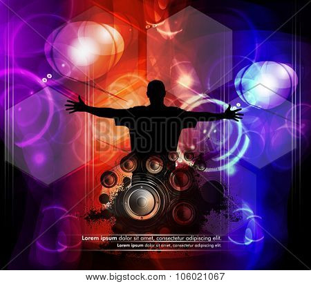 Music background, vector