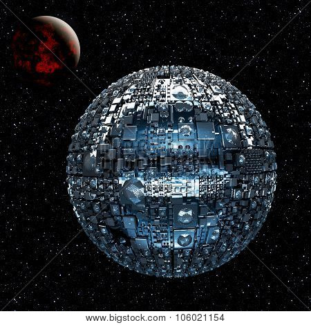 Fictional Universe With Space Battle Ship