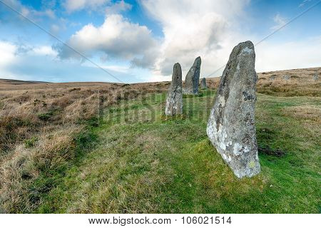 Standing Stones On Dartmoor