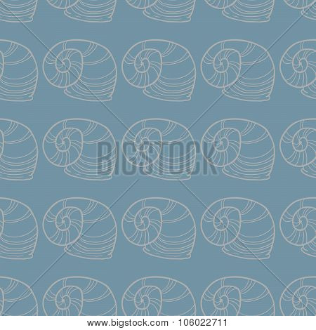 Shell seamless vector pattern