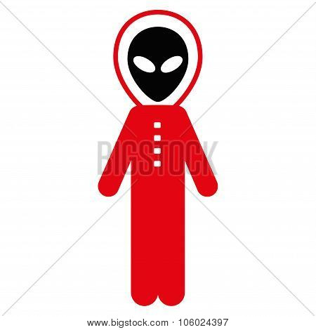 Alien Skafandr Flat Icon