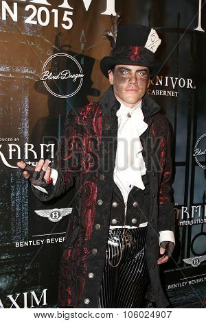 LOS ANGELES - OCT 24:  Tom Sandoval at the MAXIM Magazine's Official Halloween Party at the Private Estate on October 24, 2015 in Beverly Hills, CA