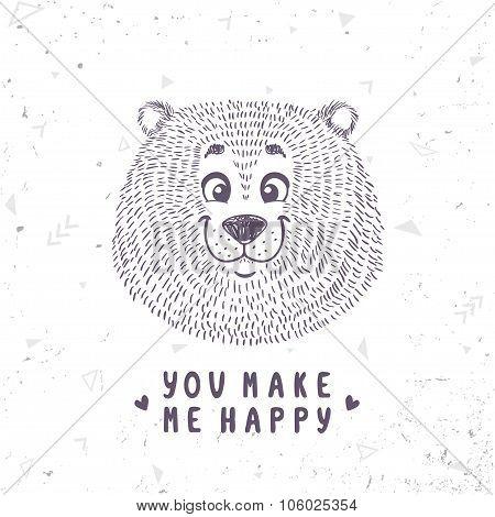 bear cute doodle