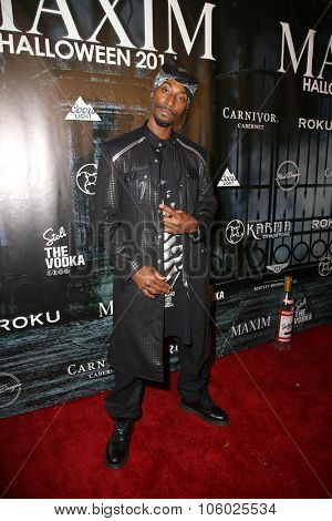 LOS ANGELES - OCT 24:  Darris Love at the MAXIM Magazine's Official Halloween Party at the Private Estate on October 24, 2015 in Beverly Hills, CA