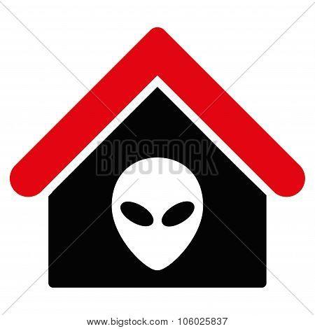 Alien Home Flat Icon