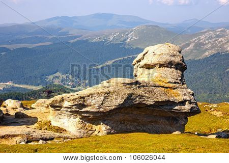 Geomorphologic Rocky Structures In Bucegi Mountains, Romania