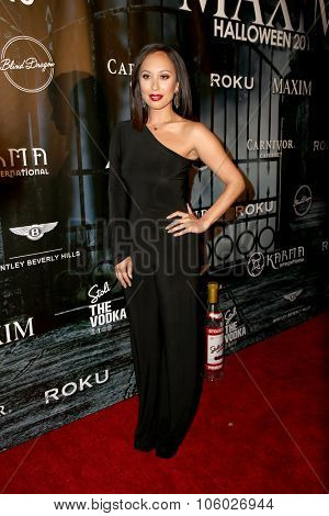 LOS ANGELES - OCT 24:  Cheryl Burke at the MAXIM Magazine's Official Halloween Party at the Private Estate on October 24, 2015 in Beverly Hills, CA