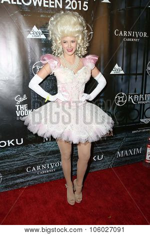 LOS ANGELES - OCT 24:  Ariana Madix at the MAXIM Magazine's Official Halloween Party at the Private Estate on October 24, 2015 in Beverly Hills, CA