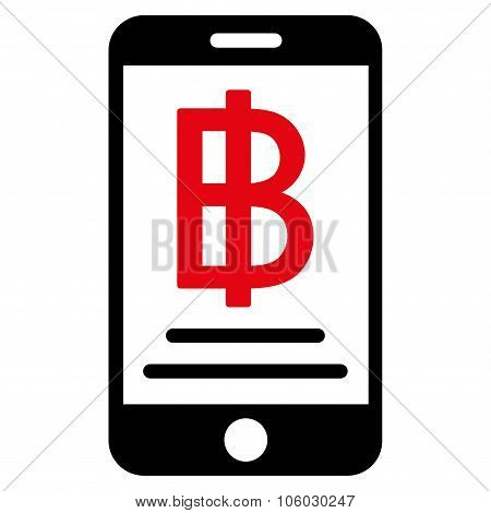 Baht Mobile Payment Icon