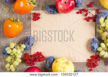 Fall Fruits And Berries.background.