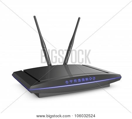 Modem With Blue Light