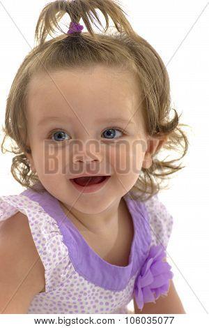 Adorable Joyful Young Caucasian Girl