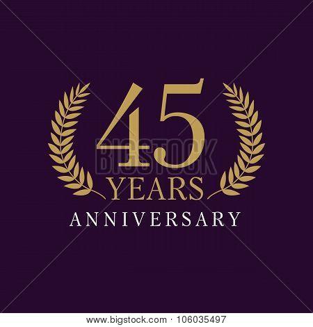 45 anniversary royal logo