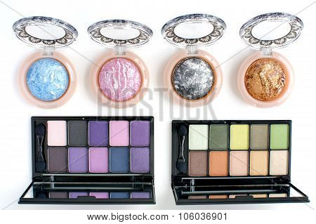 pink,grey,blue,golden,purple and  eye shadows kit