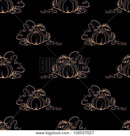 Vector Pumpkin Wallpaper.