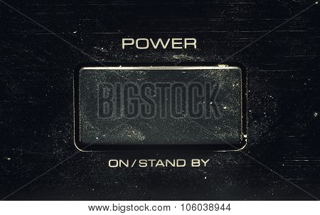 Power Button On An Old Amplifier