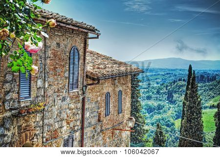 Tuscany Landscape Seen From San Gimignano