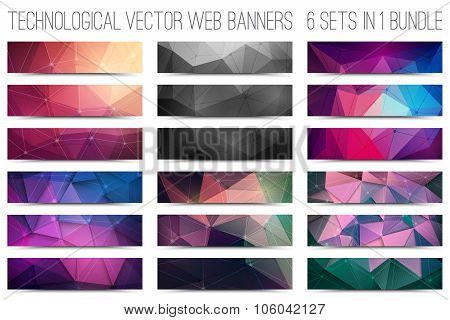 Technological Vector Web Banners