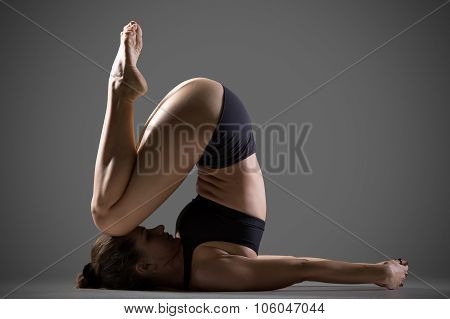 Variation Of Knee To Ear Yoga Pose
