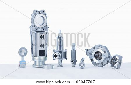 Threaded End Safety, Relief Valves, Butterfly Valves, Panel Sliders,  Check Valves