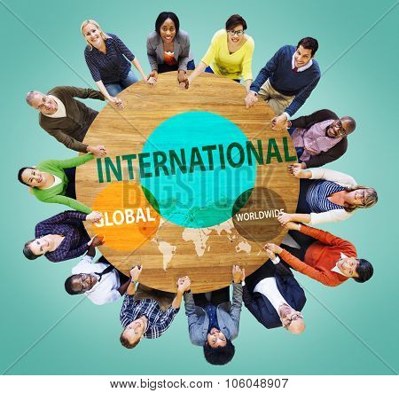 International Global Community Worldwide Trading Concept