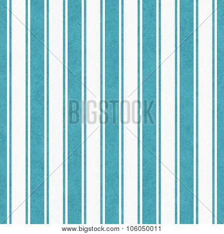Teal And White Striped Tile Pattern Repeat Background