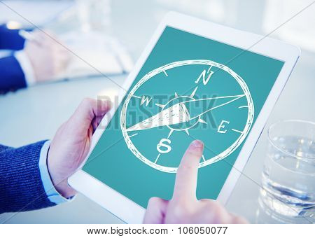 Compass Longtitude Latitude Navigation Direction Adventure Concept