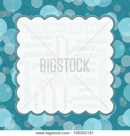 Teal Polka Dot Graduation Frame Background