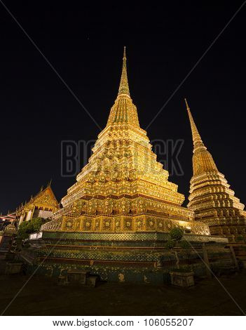 Wat Po, The Temple Of Reclining Buddha, Bangkok, Thailand.