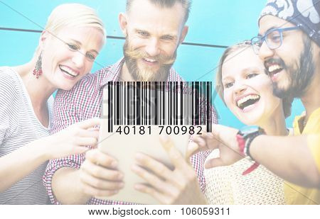 Bar Code Scanning Inventory Logistics Production Concept