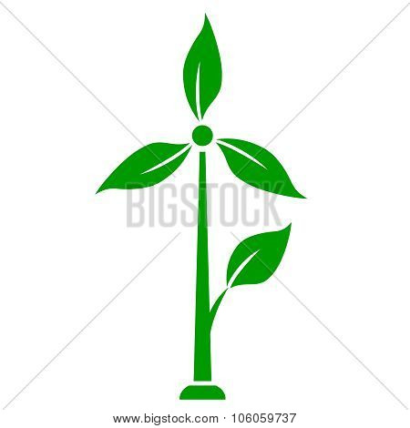 Wind generator icon green energy concept