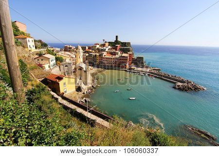 View On Vernazza In Cinque Terre