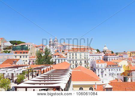 view of Alfama, Lisbon, Portugal