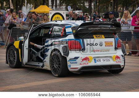 Volkswagen Polo R WRC Car in Salou, Spain