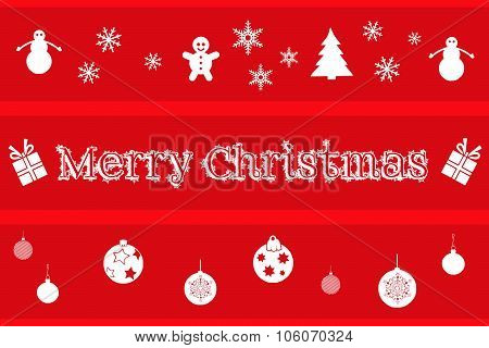 Christmas background in red and white