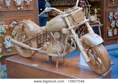 Wooden toy motorcycle plans woodproject for Woodworking plan for motorcycle rocker toy