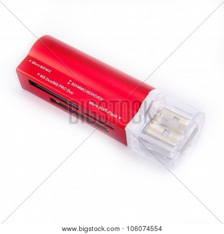 Red Open Flash Card.