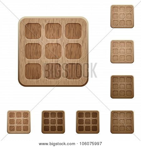 Small Thumbnails Wooden Buttons