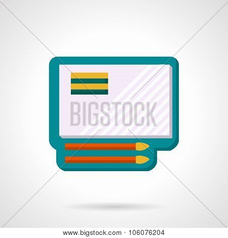 Painting set flat color vector icon