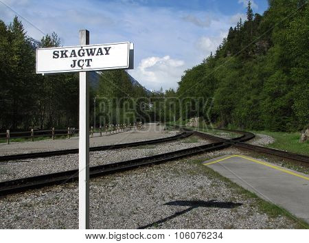 Arriving at the Station in Skagway, Alaska