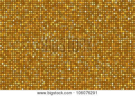 Gold Dots Pattern Seamless Background. Eps8 Vector