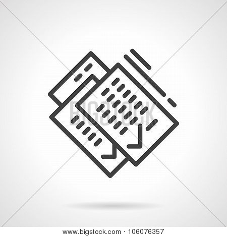 Paperwork simple line vector icon