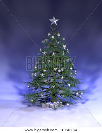 Blue Silver Christmas Tree