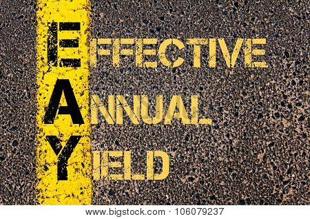 Business Acronym Eay As Effective Annual Yield