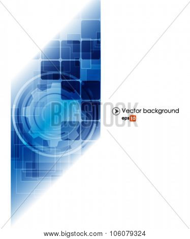 White and blue vector abstract technology background