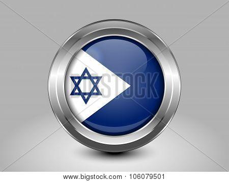 Israel Variant Flagl. Metal Round Icon